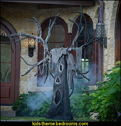 Creepy Open Mouth Tree halloween  decorating props