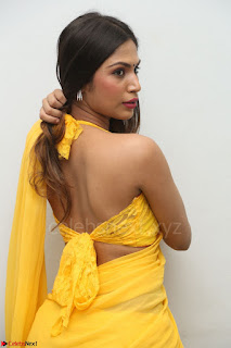 Nishigandha in Yellow backless Strapless Choli and Half Saree Spicy Pics 044.JPG
