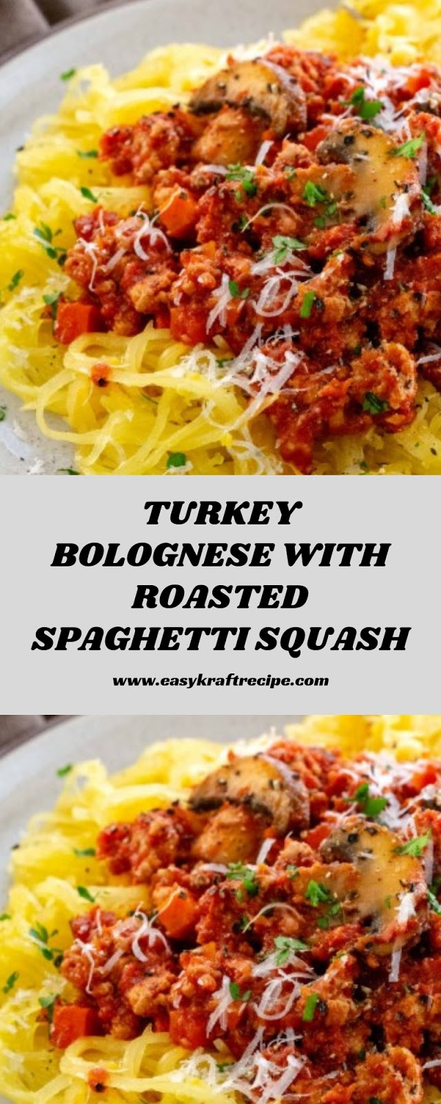 TURKEY BOLOGNESE WITH ROASTED SPAGHETTI SQUASH