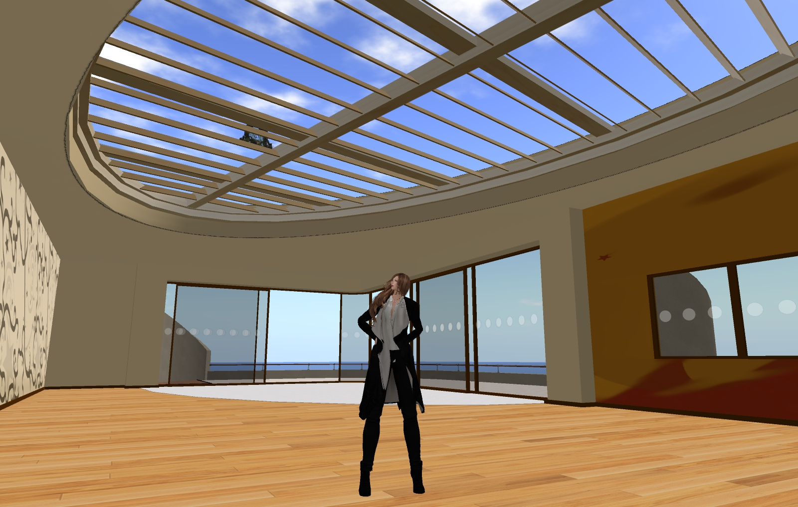 VR-world exploring 5: Ps-home Harbor Studio on Second Life