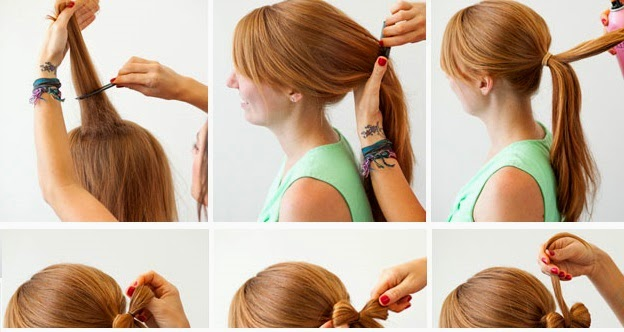 Swell Ponytail Diy Hair Bow Tutorial Entertainment News Photos Short Hairstyles Gunalazisus
