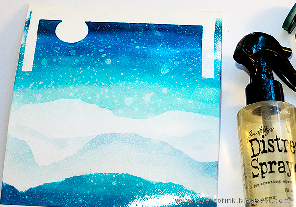 Layers of ink - Penguin Winter Scene by Anna-Karin Evaldsson, for the SSS DieCember Blog Hop