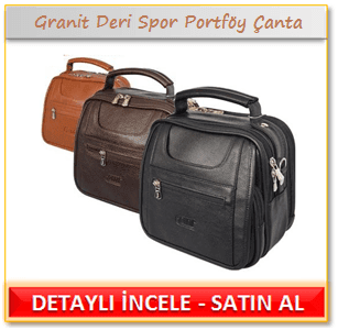 Granit Deri Spor Portföy Çanta