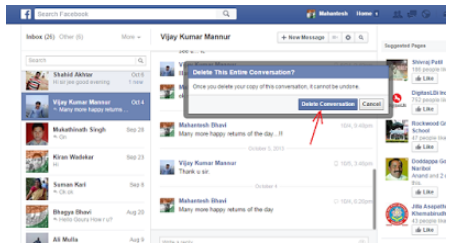 how to see deleted conversations on facebook