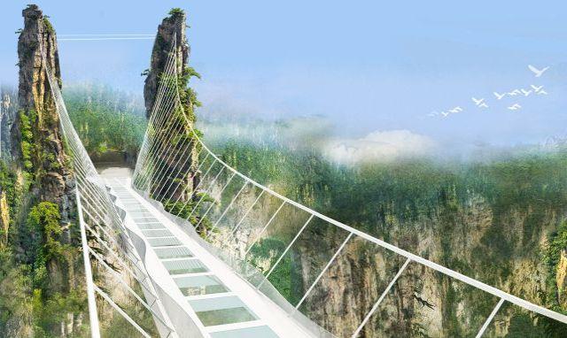 Puente de cristal diseñado por arquitecto israelí