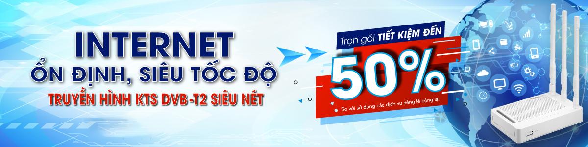 Nhiều ưu đãi hấp dẫn từ dịch vụ Truyền hình DVB-T2 và Internet SCTV