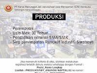 Lowongan Kerja Produksi PT Karya Manunggal Jati Surabaya