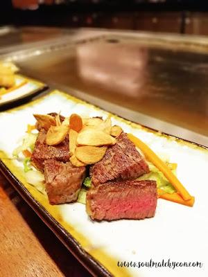 Teppan Beef Set at Teppan Table, Kota Kinabalu Marriott Hotel