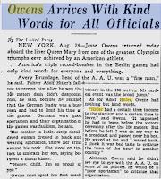Artículo periódico Jesse Owens