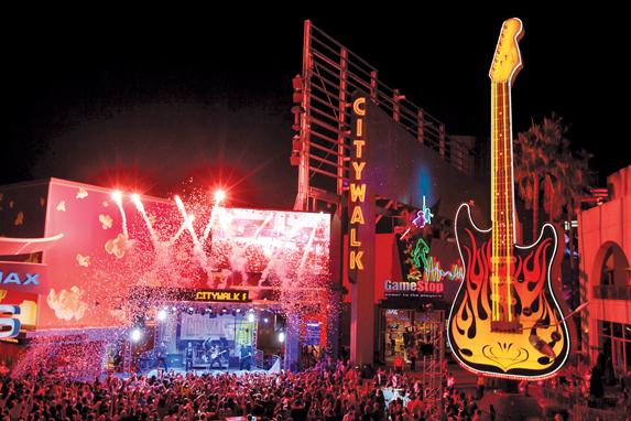 Baladas e bares no Universal CityWalk em Orlando