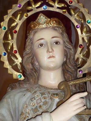 Imagen de Santa Cecilia con el arpa