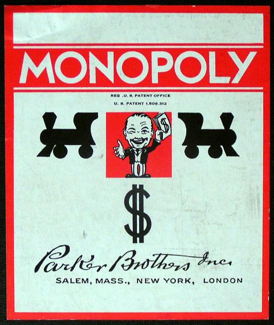 Monopoly 1935 box cover