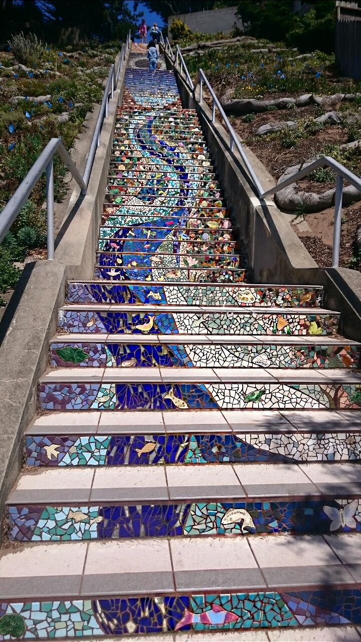 Colourful Moraga Steps San Francisco