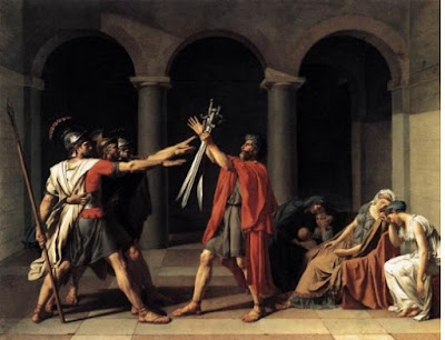 """Lukisan """"The Oath of the Horatii"""" oleh Jacques-Louis David"""