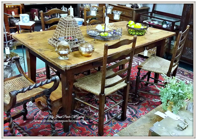 Vintage Farmhouse Table-A Day Antiquing- Antique Shopping