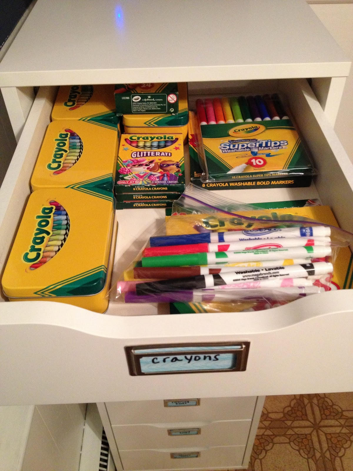 Organizing For Six Organizing Children S Art Supplies