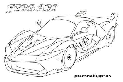 Gambar Mobil Sport Untuk Mewarnai