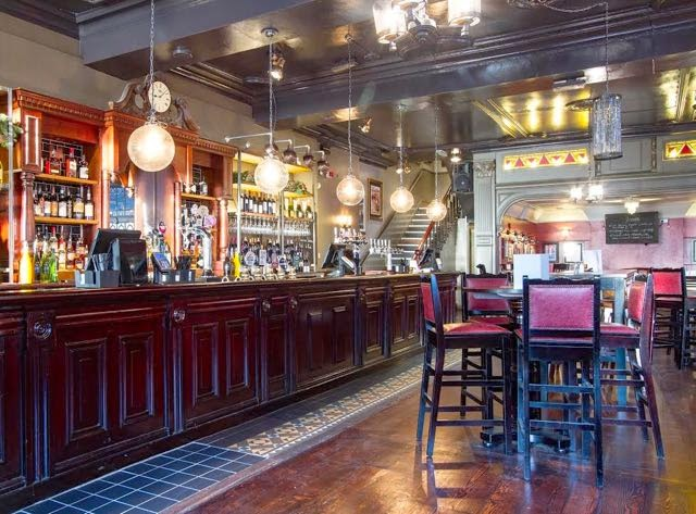 Interior view of The Bolton Pub, Kensington