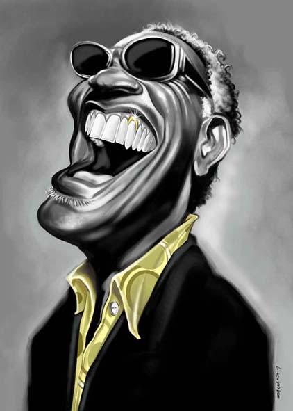 """Ray Charles"" por Fabian Zaccaria"