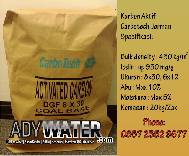 Jual Karbon Aktif Carbotech, Distributor Karbon Aktif Carbotech