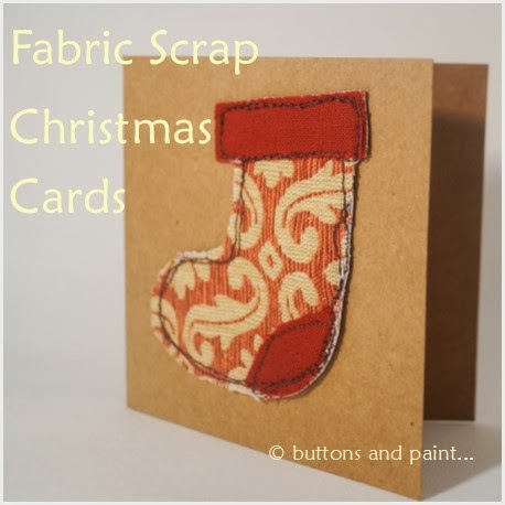 And Fabric Scrap Christmas Cards