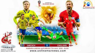 موعد وتوقيت مباراة السويد وإنجلترا دور ال8 كاس العالم 2018 و القنوات الناقلة