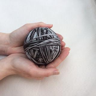 Hand-wound skein of yarn