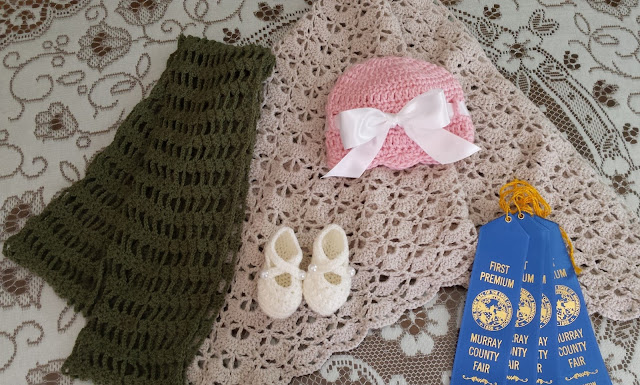 crochet items from the county fair