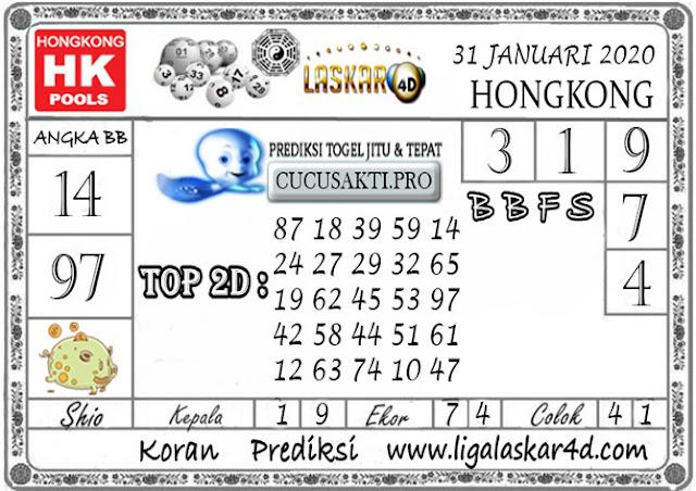 Prediksi Togel HONGKONG LASKAR4d 31 JANUARI 2020