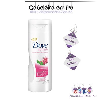 Composição Hidratante corporal Go Fresh Romã e Verbena - Dove sem proibidos