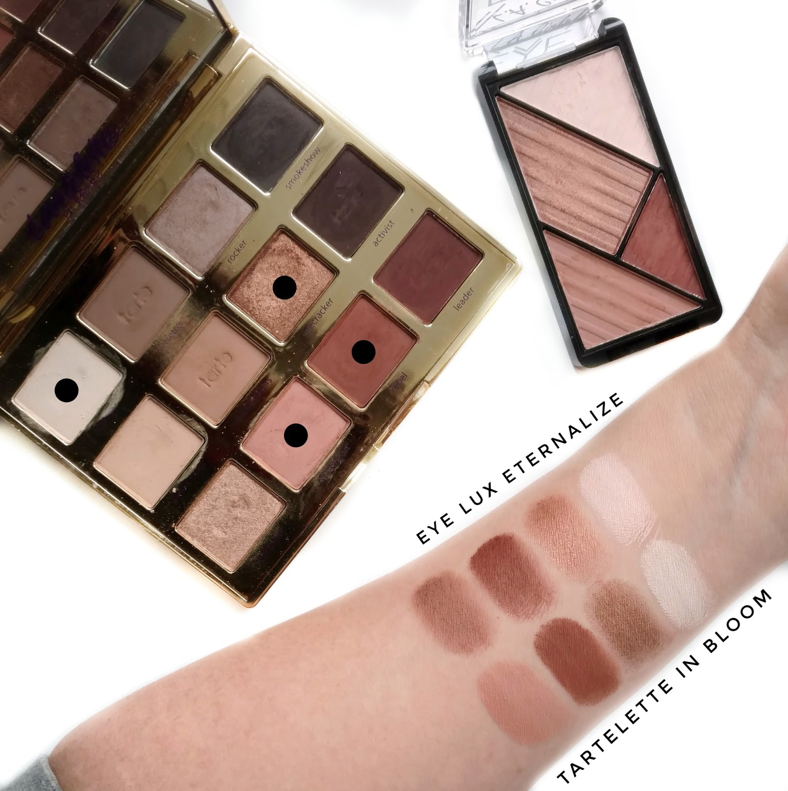 L.A. Girl Eye Lux Eyeshadow Swatches