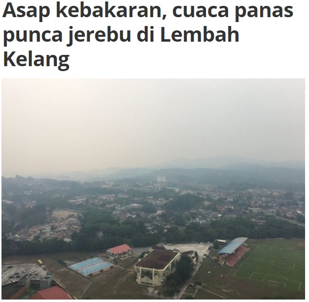 Kebakaran hutan tanah gambut di Kuala Langat dan Sepang