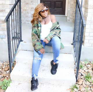 Laura Ikeji arrives the United states for the delivery of her child