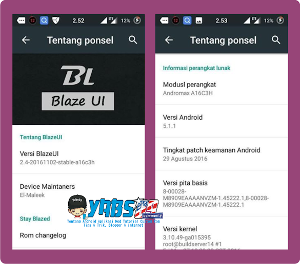 Custom Rom Blaze UI 2.4 Andromax A