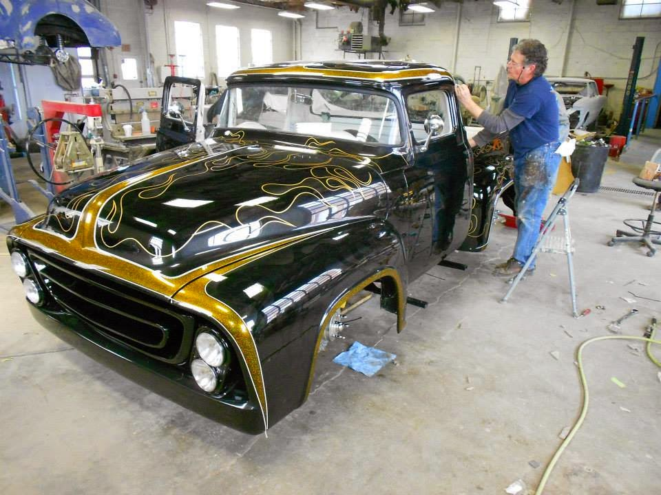 Dennis Day Designs - Lettering, Pinstriping; Murals: Flames