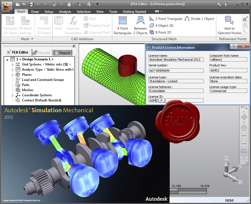 AUTODESK SIMULATION MECHANICAL V2012-ISO Free Download - Lakehead