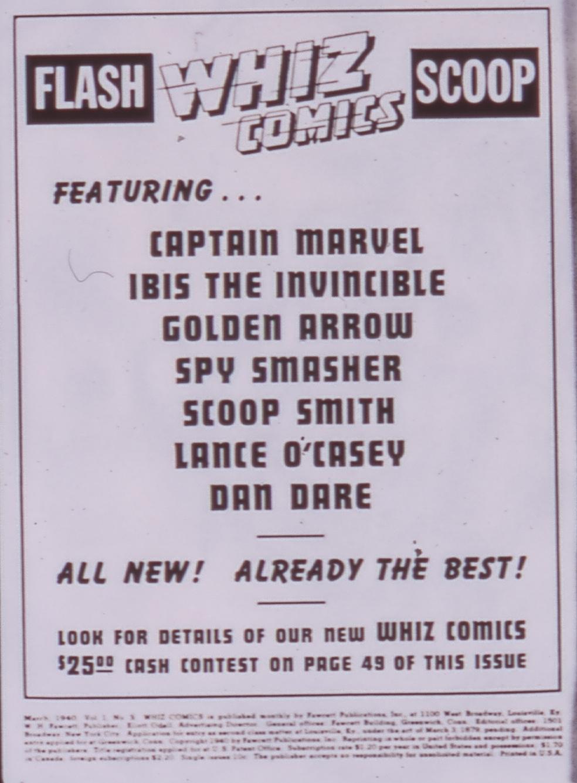 Read online WHIZ Comics comic -  Issue #3 - 2