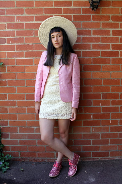 Something I really enjoy doing is wearing thrifted vintage clothing with  designer accessories, case in point this outfit inspired by Dolores  Umbridge from