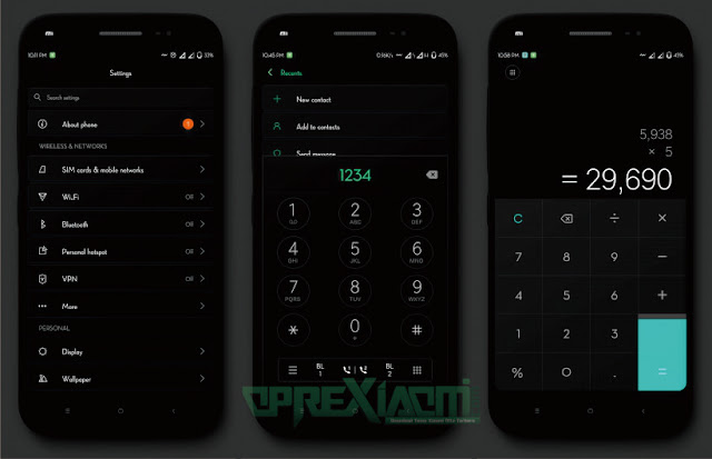 Download Tema Flox Ui Dark mtz Full Black Terbaru