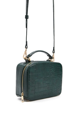 Forever 21 faux croc structured crossbody