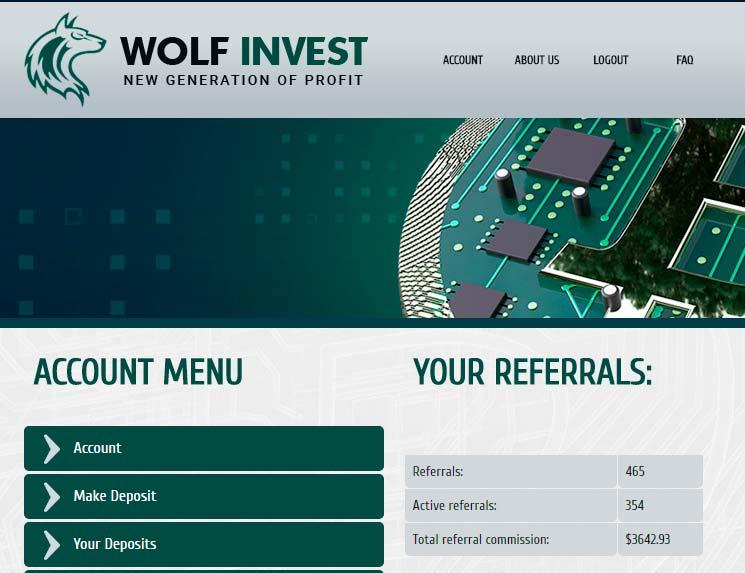 Активность инвесторов в Wolf Invest