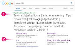 Cara Membuat Sitelinks Blogspot di Search Box Google