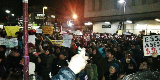 Manifestación en Osorno