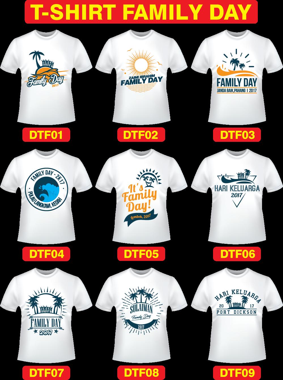 92015dd3b Design Baju T-Shirt Family Day   Printing Baju Murah   Kedai ...