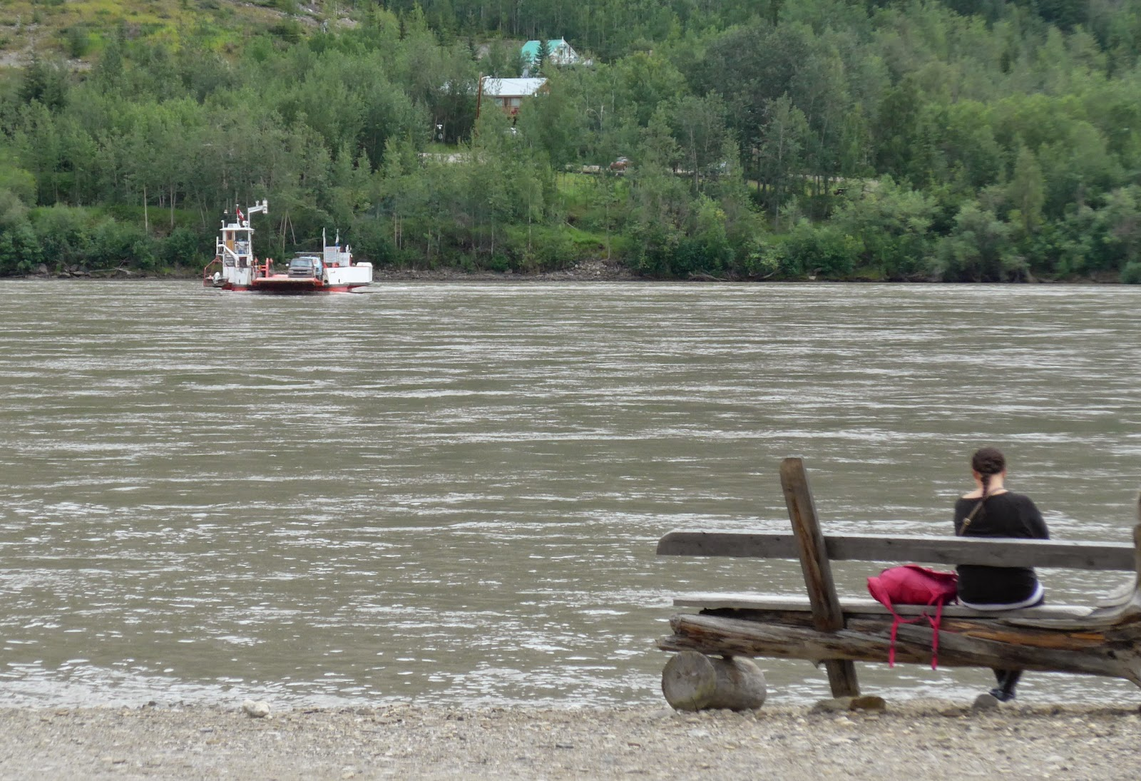 Ferry across the Yukon River