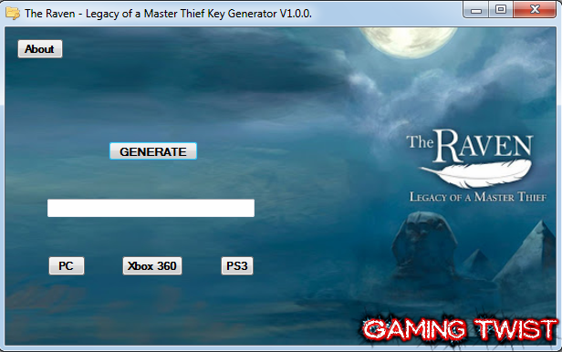 The Raven: Legacy of a Master Thief Key Generator v1.0.0