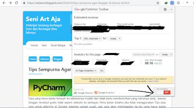Cara Melihat Url iklan atau Domain iklan AdSense di Browser Google Chrome