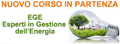 EGE: IL CORSO IN GESTIONE DELL'ENERGIA SECONDO LA NORMA UNI CEI 11339:2009.