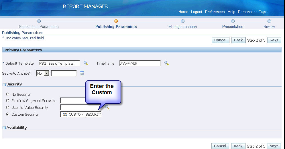 Custom Security Manager