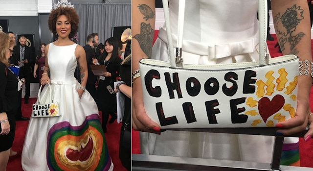 Joy Villa turns heads with pro-life outfit at the Grammys